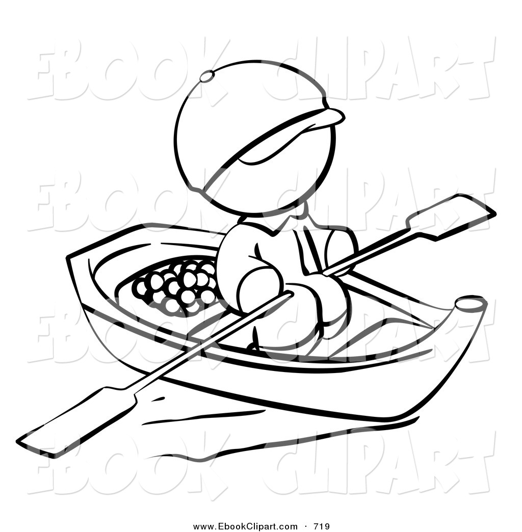 1024x1044 Row Boat Black And White Clipart