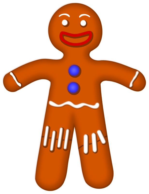 616x800 Free Gingerbread Man Clip Art 4