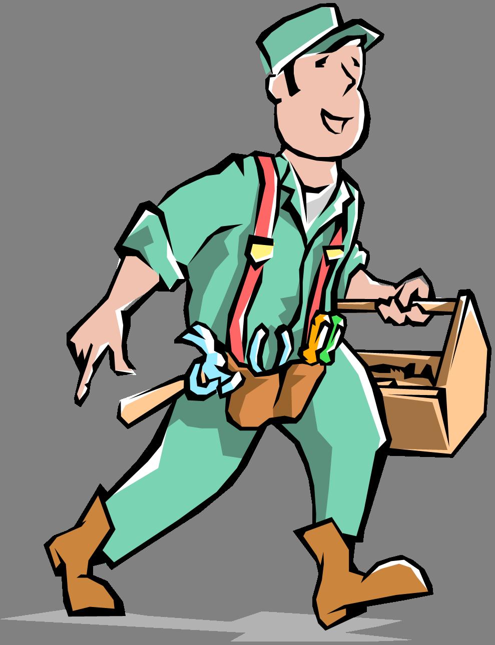989x1290 Cartoon Maintenance Man Clipart