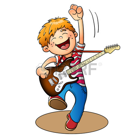 Man Playing Guitar Clipart