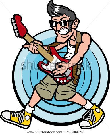 383x470 Guitar Clipart Man