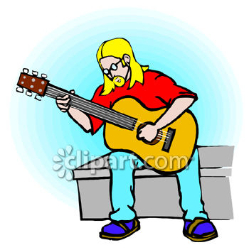 350x345 Hippy Guy Playing An Acoustic Guitar