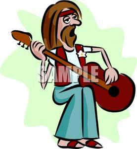 277x300 Image A Hippie Man Playing Guitar