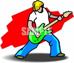 300x254 Man Playing Electric Guitar