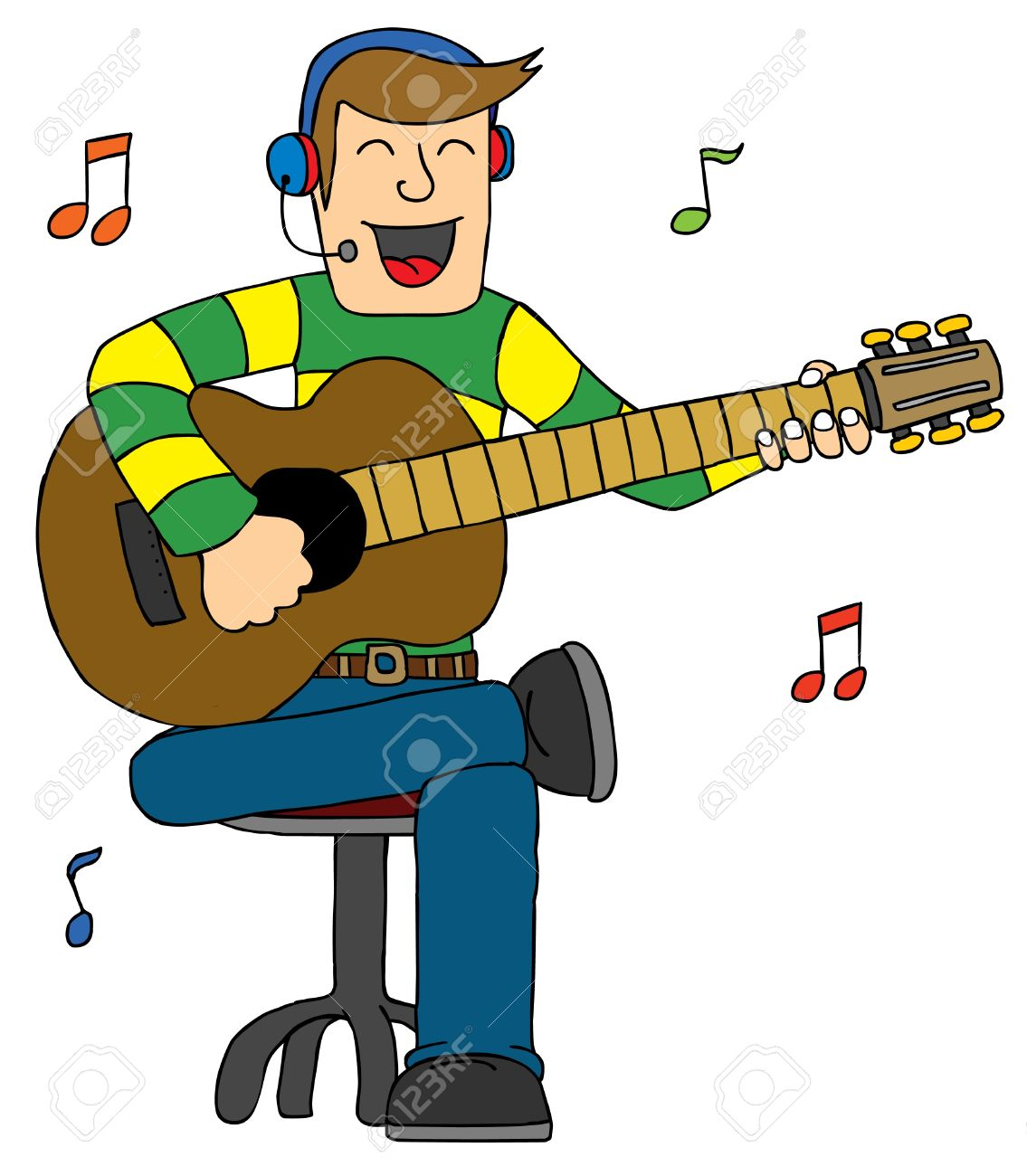 1135x1300 Represent A Man Singing With Guitar Royalty Free Cliparts, Vectors