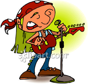 350x333 Royalty Free Clip Art Image Man Singing And Playing Acoustic Guitar