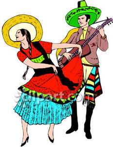 232x300 Woman Doing The Pasa Doble While A Man Plays Guitar