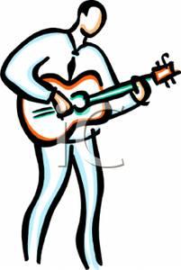 201x300 Art Image A Man Playing Guitar