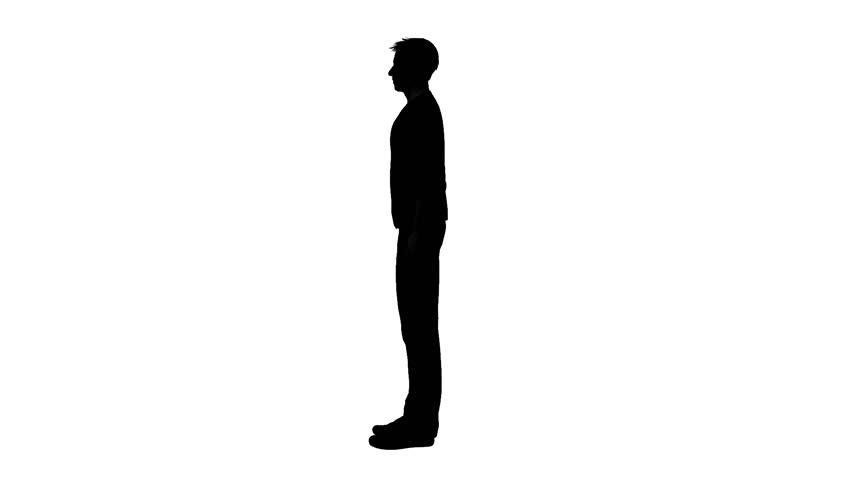 852x480 Man Silhouette Stock Footage Video Shutterstock
