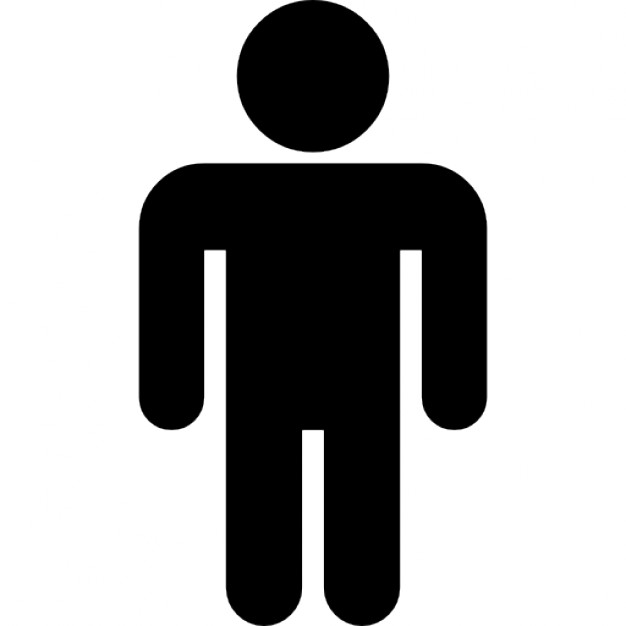 626x626 Man Standing Black Silhouette Icons Free Download