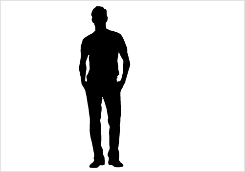 501x352 Standing Man Silhouette Graphics Silhouette Graphics