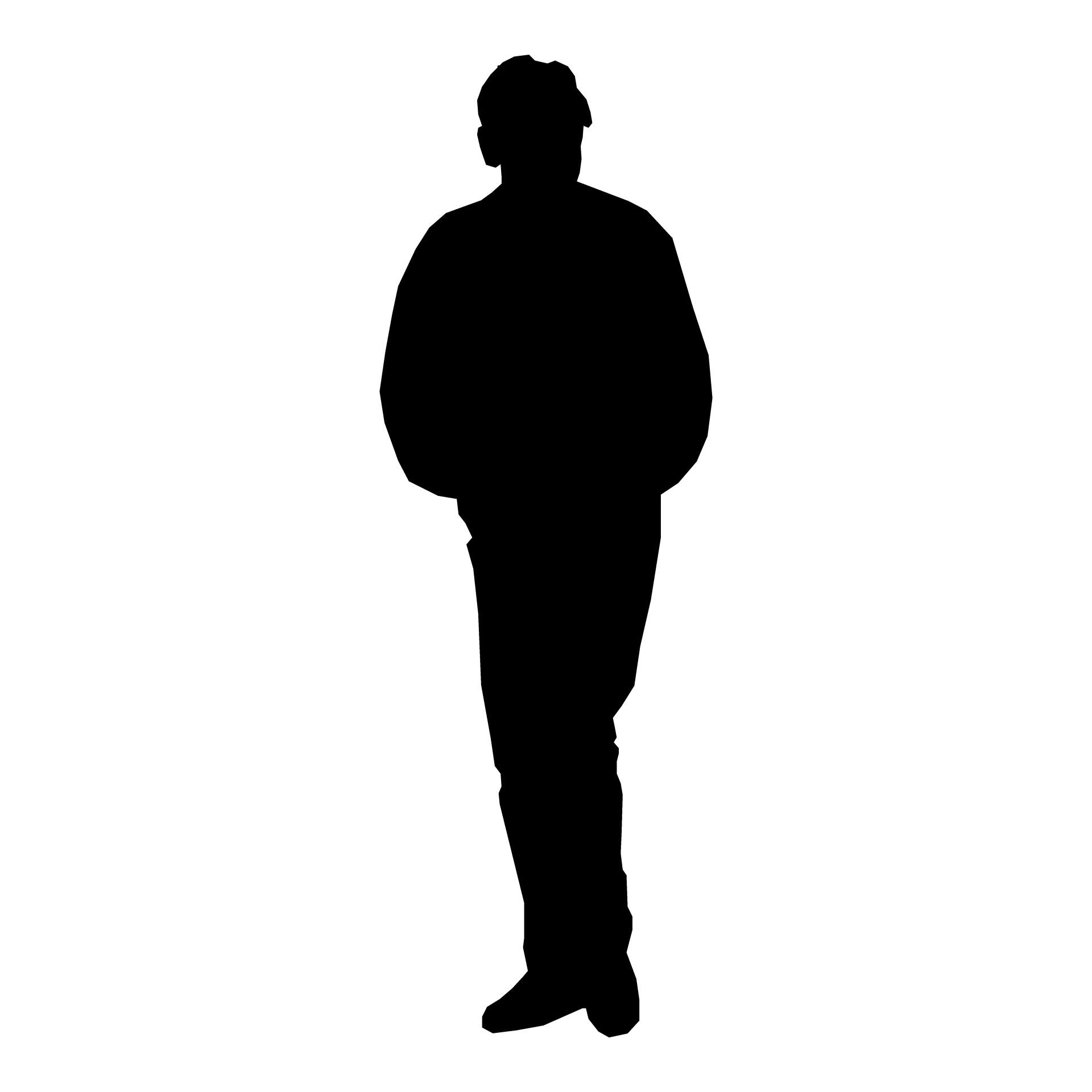 1920x1920 Unique Silhouette Man Standing Drawing