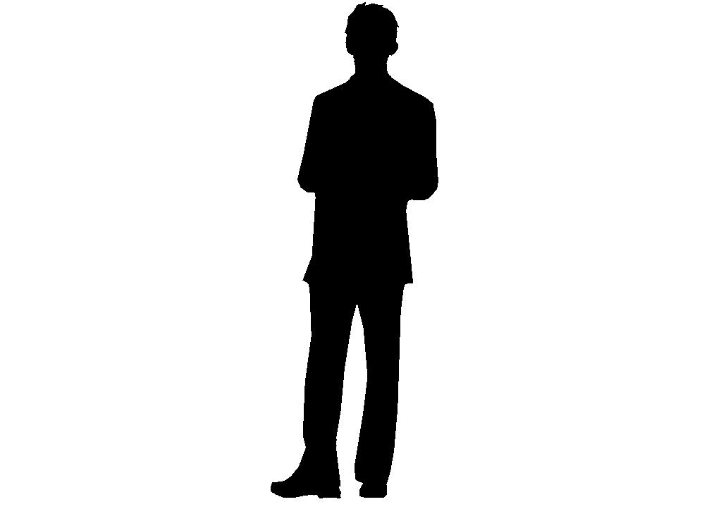 996x722 Black Man Silhouette Clipart
