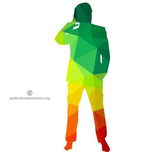 300x300 9851 Running Man Silhouette Clip Art Free Public Domain Vectors