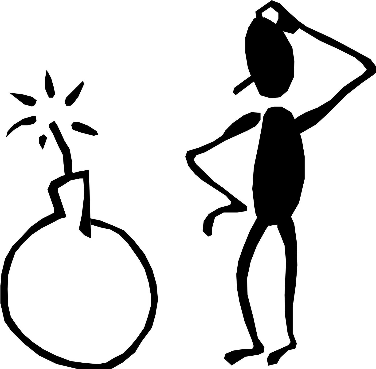 1600x1570 Man Clipart Thinking Stick
