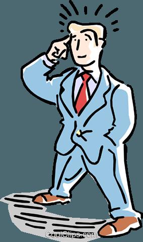 284x480 Man Thinking Royalty Free Vector Clip Art Illustration Cart1567