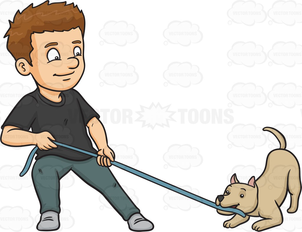 Man Walking Dog Clipart