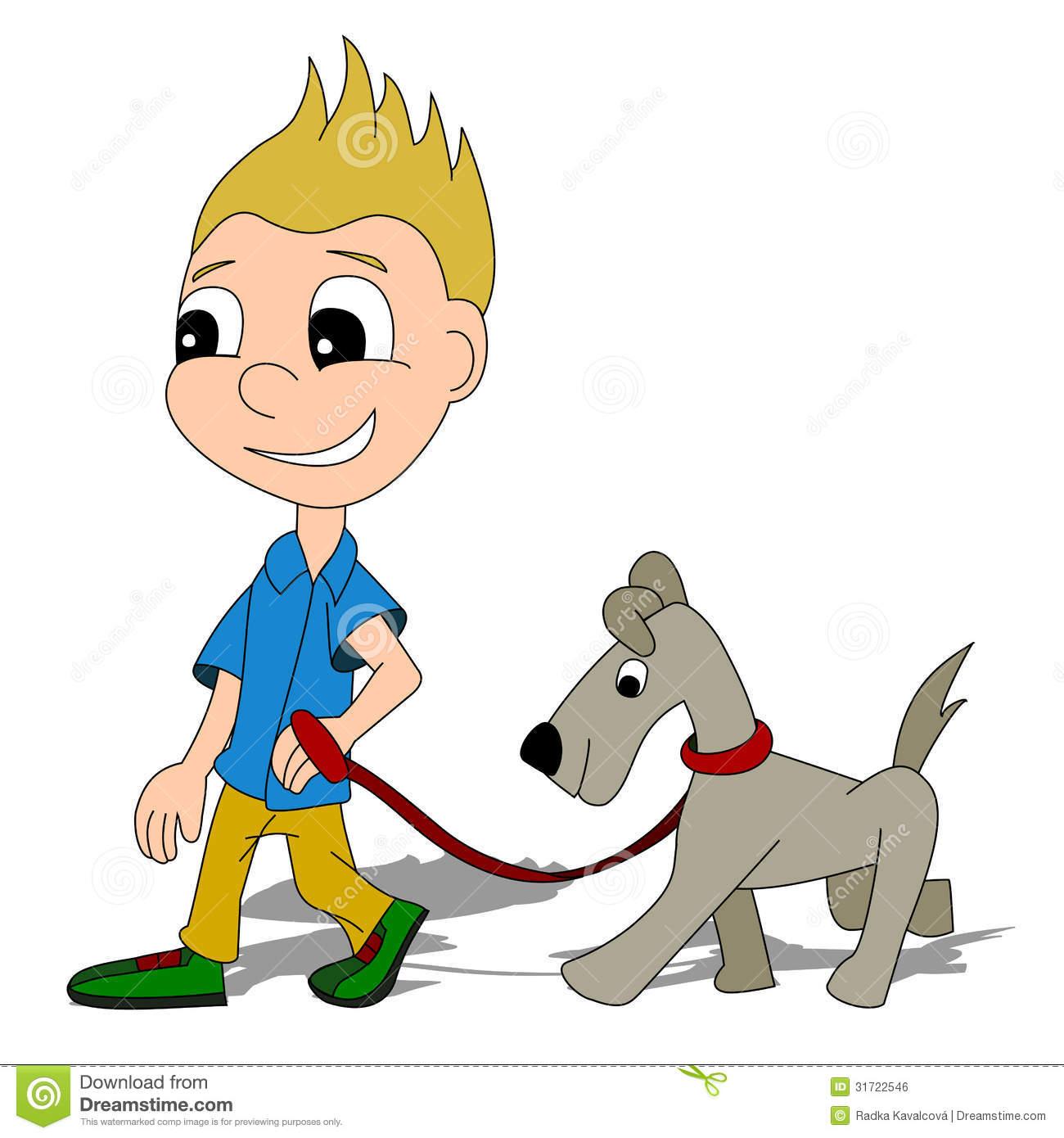 1300x1390 Cartoon Walking Dog
