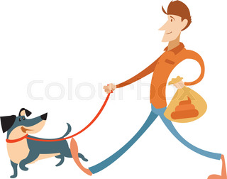320x252 Man Dog Training Playing Pet Stick Flat Icons. The Dog Manamp'S