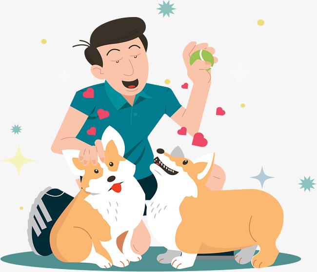 650x558 The Man Walking The Dog, Vector Material, Keep A Pet, Keke Dog Png