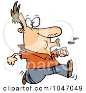175x190 Clipart Man Whistling While He Waits