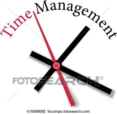 450x440 Clipart Of Efficient Time Management Clock Work K19368092