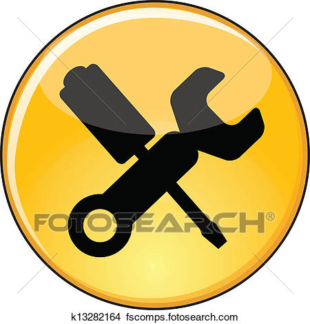 450x470 Clipart Of Shiny Yellow Manage Settings Button K13282164