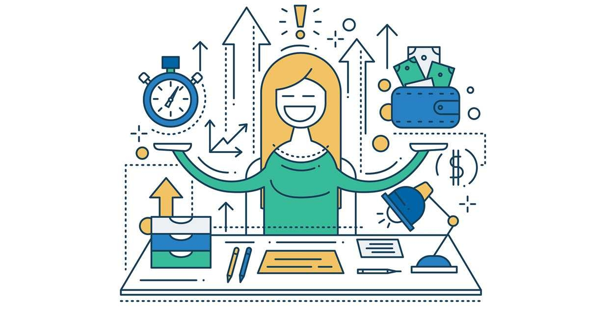 1200x630 Time Management Royalty Free Vector Clip Art Illustration On Time