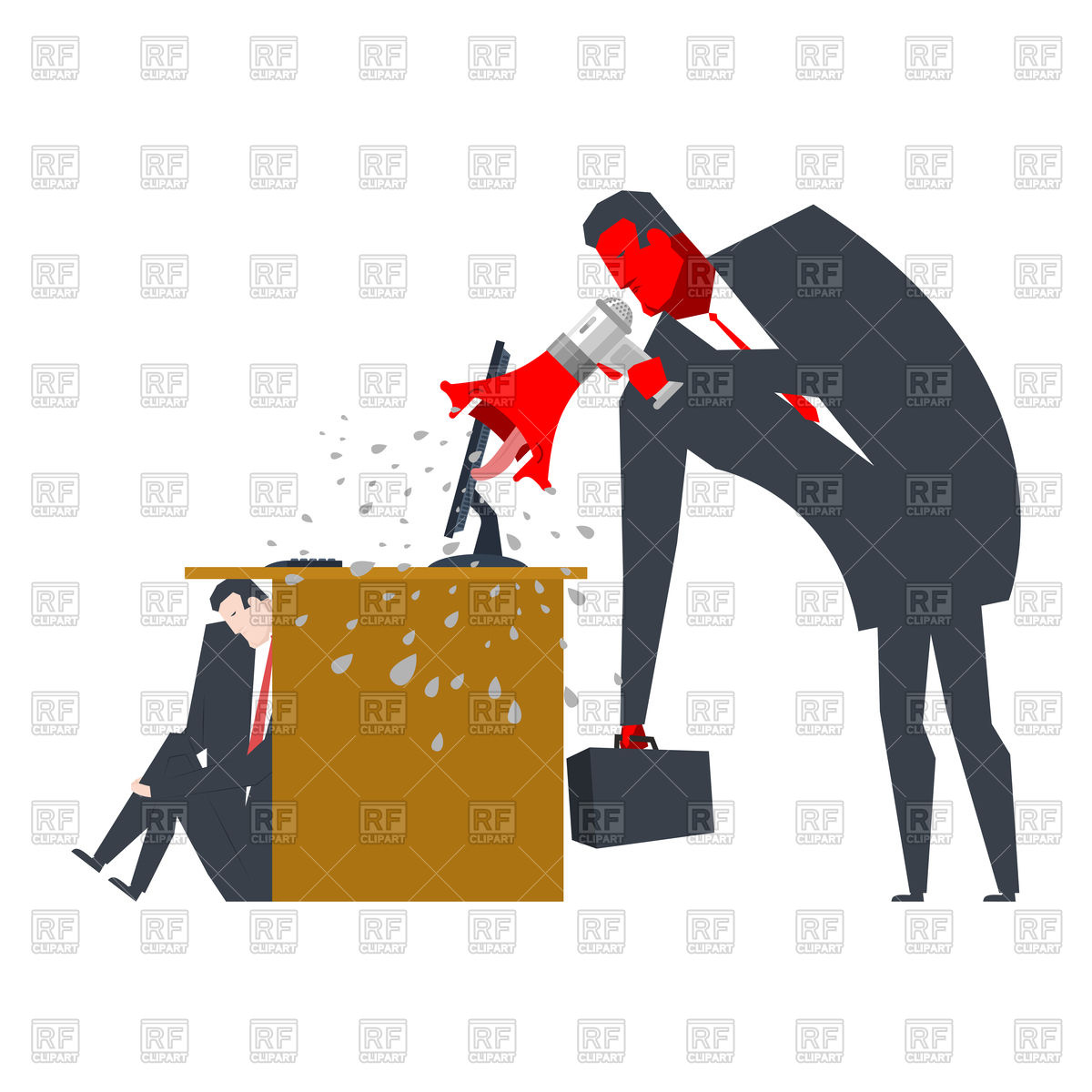 1200x1200 Angry Boss Is Scolding Manager, Screaming, Punishment