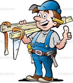 236x268 Carpenter Or Handyman Illustration By Andy Keylock, Via Dreamstime