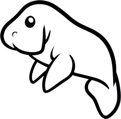 400x393 150 Best Meet A Manatee Images Drawings, Black