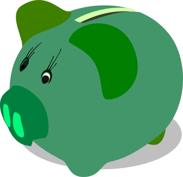 600x582 Green Piggy Bank Clip Art