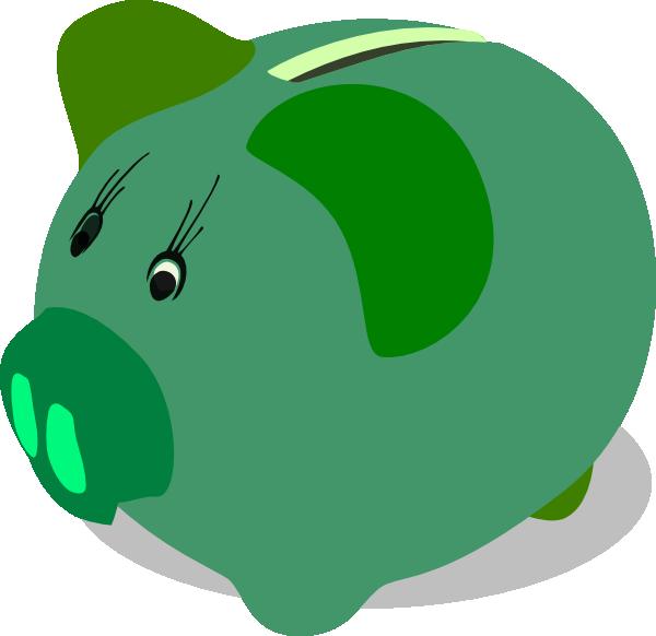 600x582 Green Piggy Bank Clip Art