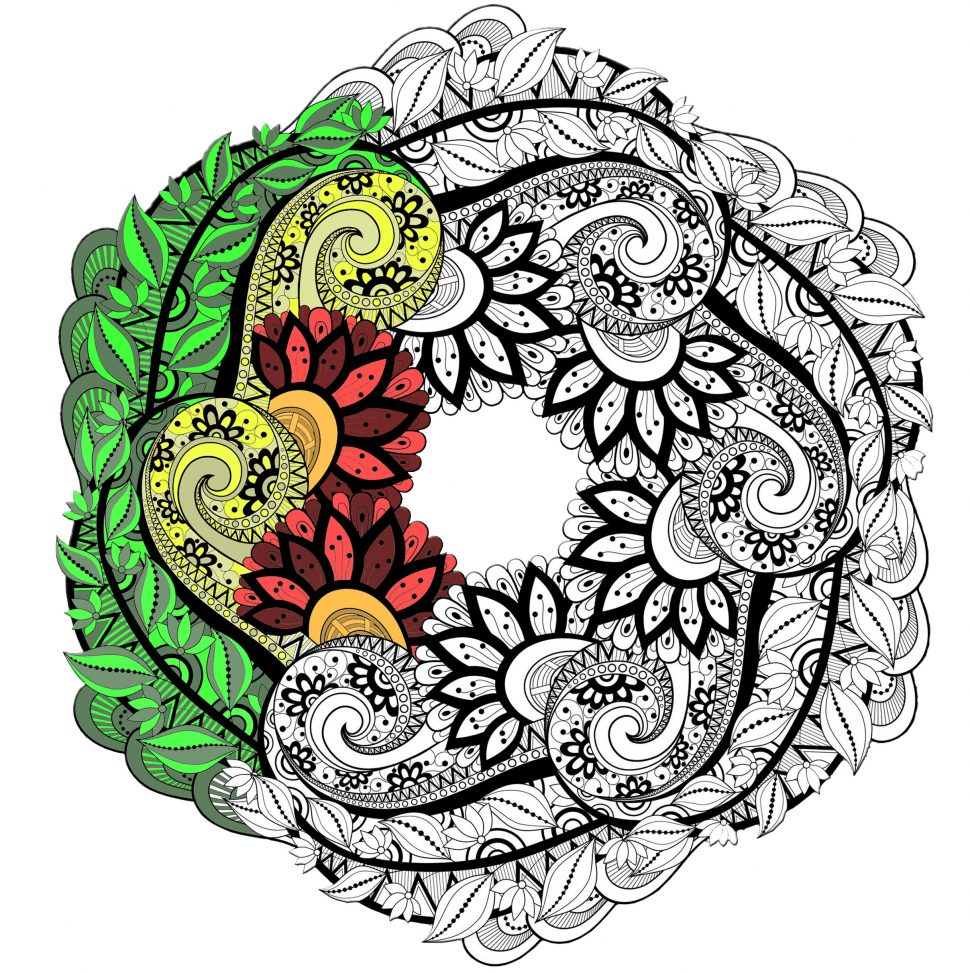 970x973 Coloring Outstanding Mandala Coloring Pages Animal For Kids