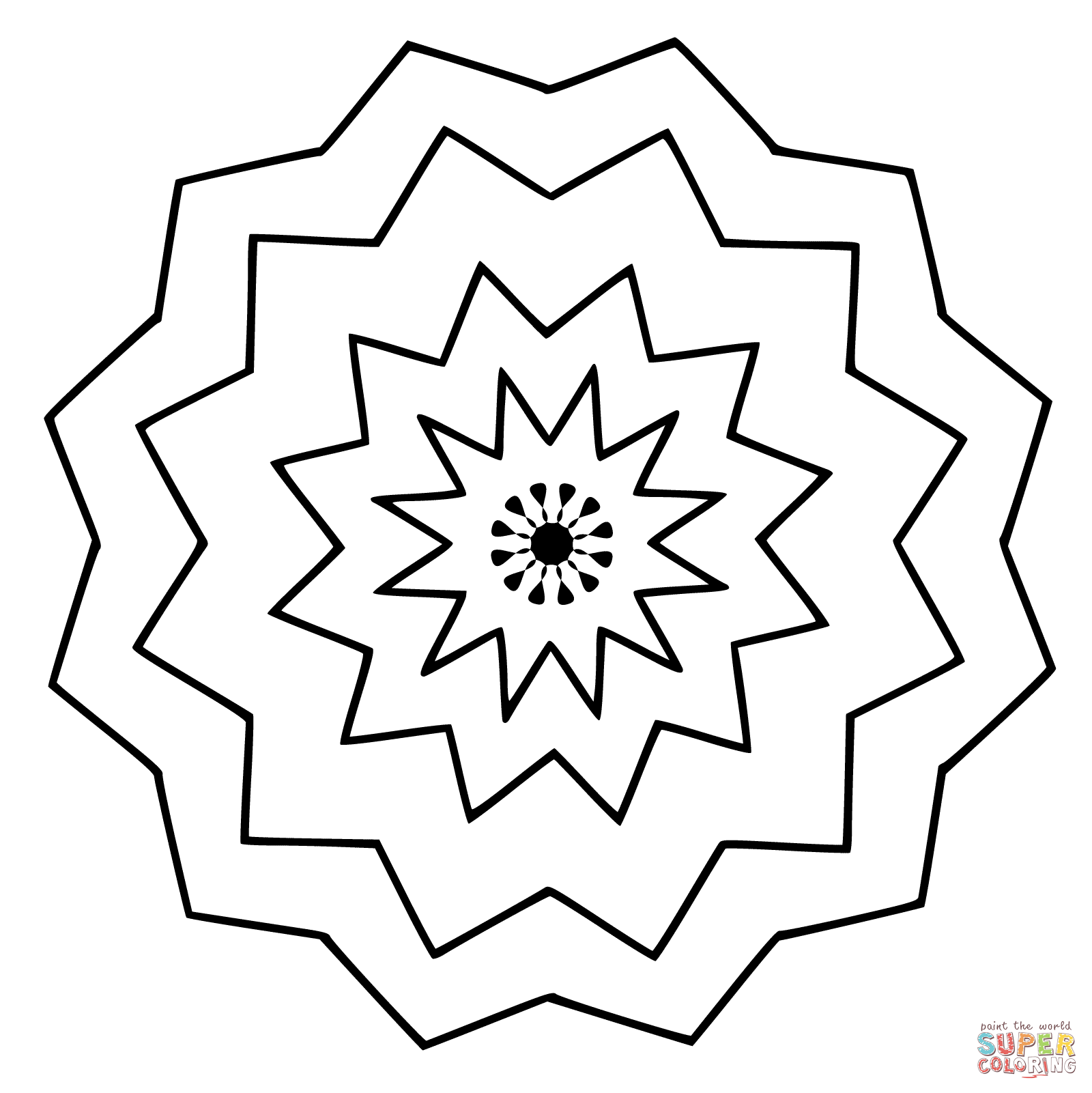1600x1601 Flower Mandala Coloring Page Free Printable Pages