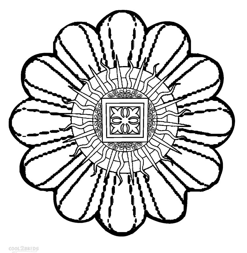 850x869 Lovely Cool Mandala Coloring Pages 48 In Coloring Print With Cool