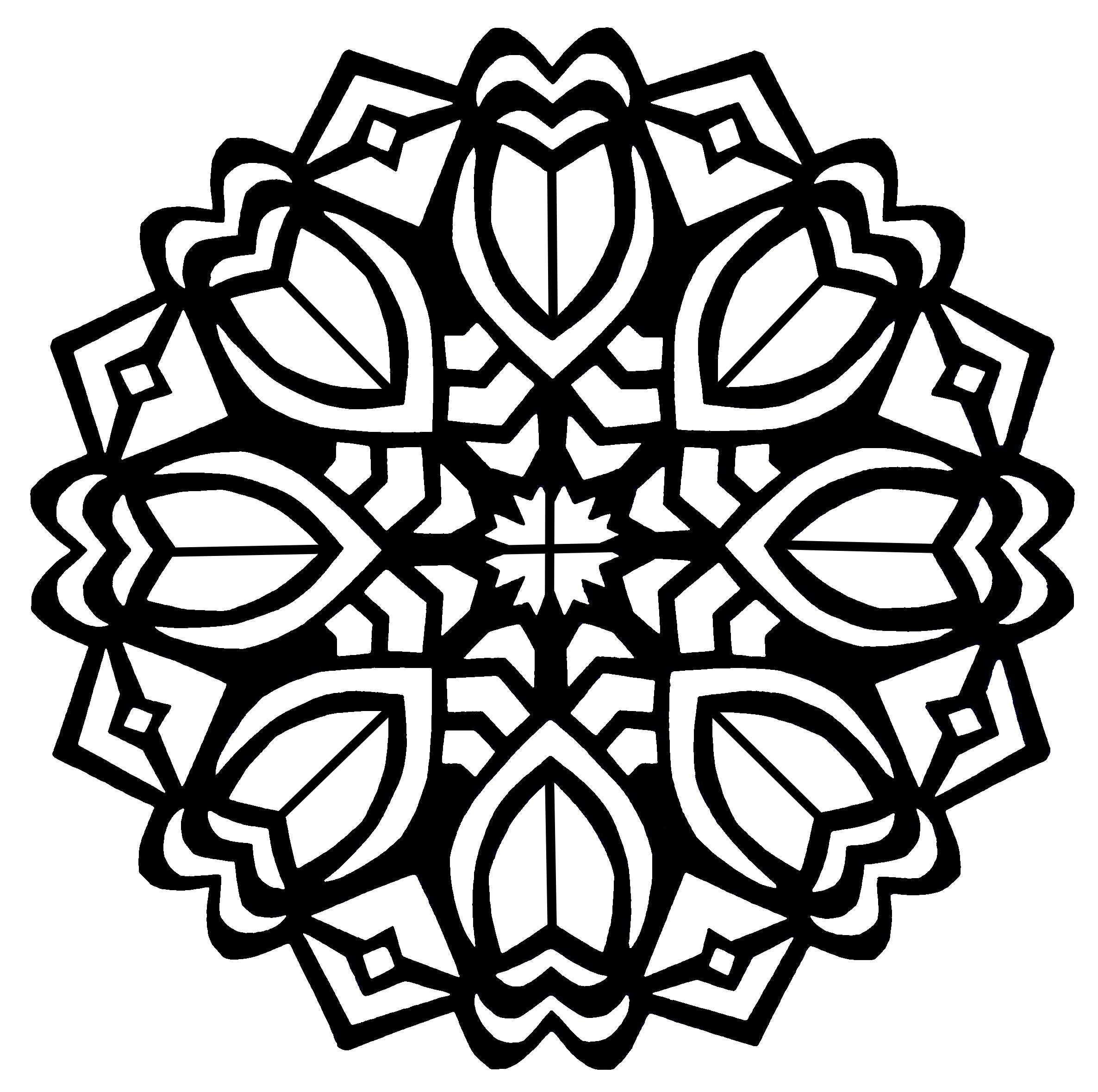 2372x2359 Adults Abstract Coloring Book Flower Mandala Pages Free