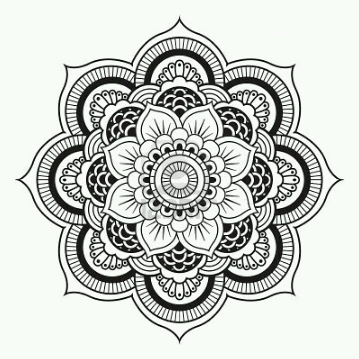 720x720 Mandala Flower Things I Love Mandala