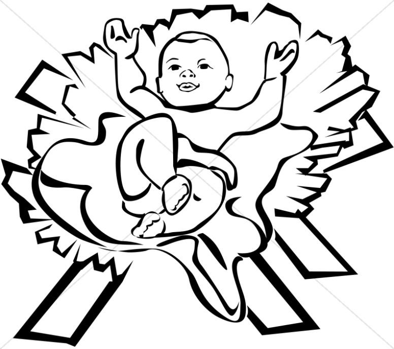 776x687 Baby Jesus Clip Art