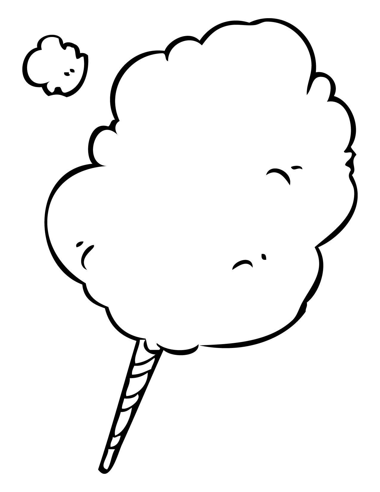 1275x1650 Cotton Candy Clipart Black And White Free