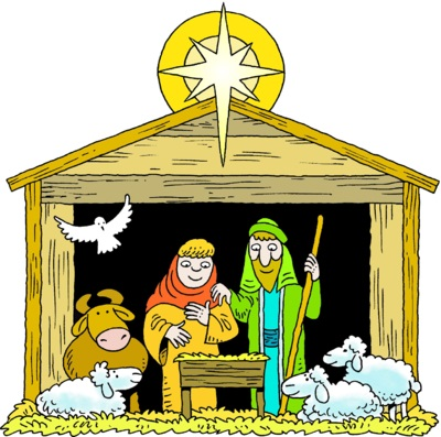 400x397 Nativity Stable Clip Art Free Clipart Collection
