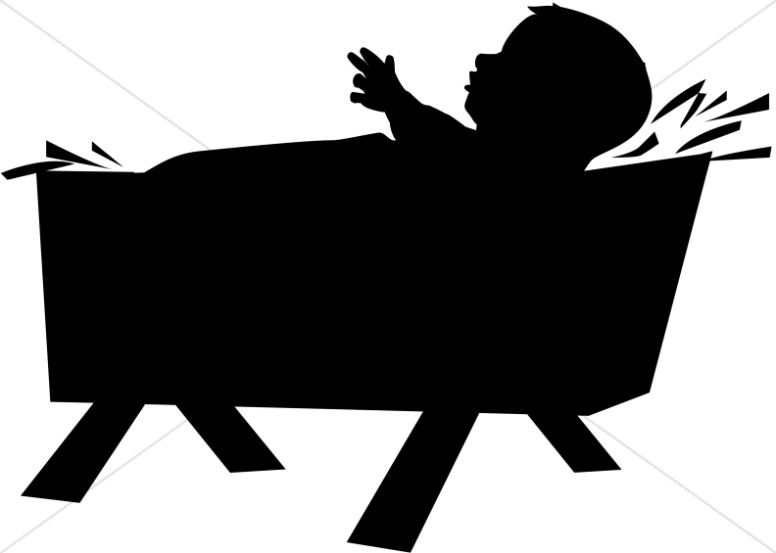 776x553 Silhouette Baby Jesus Born In A Manger Baby Jesus Clipart