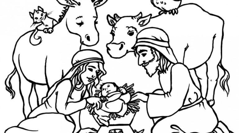 770x430 Inspiring Jesus Birth Coloring Pages Photo