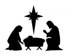 236x195 Nativity Scene Silhouette Clip Art
