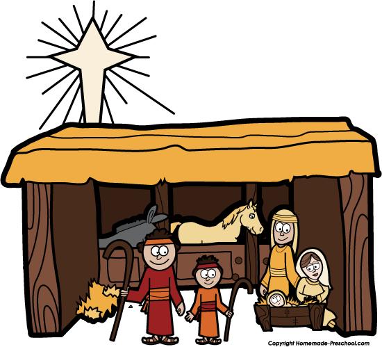 Live Nativity Scene Clipart Images