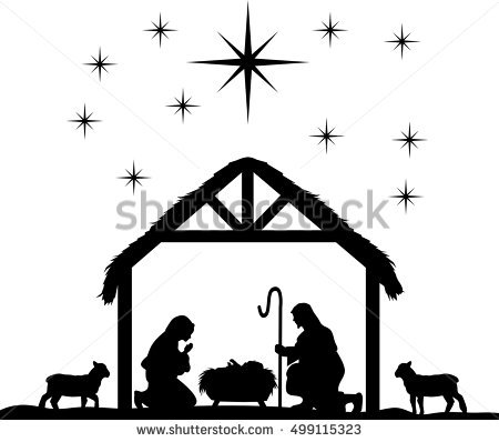 450x398 vector nativity clip art merry christmas amp happy new year arts