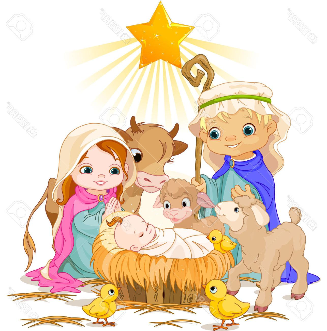 1286x1300 Best 15 Christmas Nativity Scene With Holy Family Stock Vector