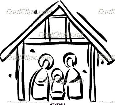 375x342 Nativity Scene Clip Art Free Clipart Panda