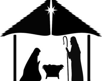 340x270 Nativity Scene Clipart Digital Scrapbook Clipart Pack 300