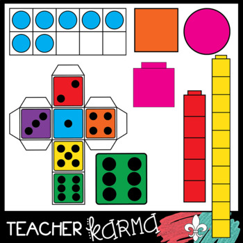 350x350 Math Manipulative Clipart Mega Bundle 213 Pieces By Teacher Karma